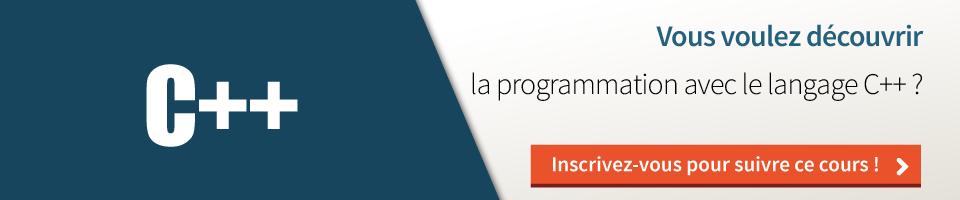 MOOC : Programmez avec le langage C++