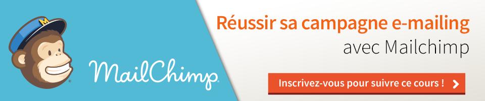 Cours : Réussir sa campagne d'e-mailing avec MailChimp