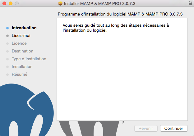 Installation de MAMP