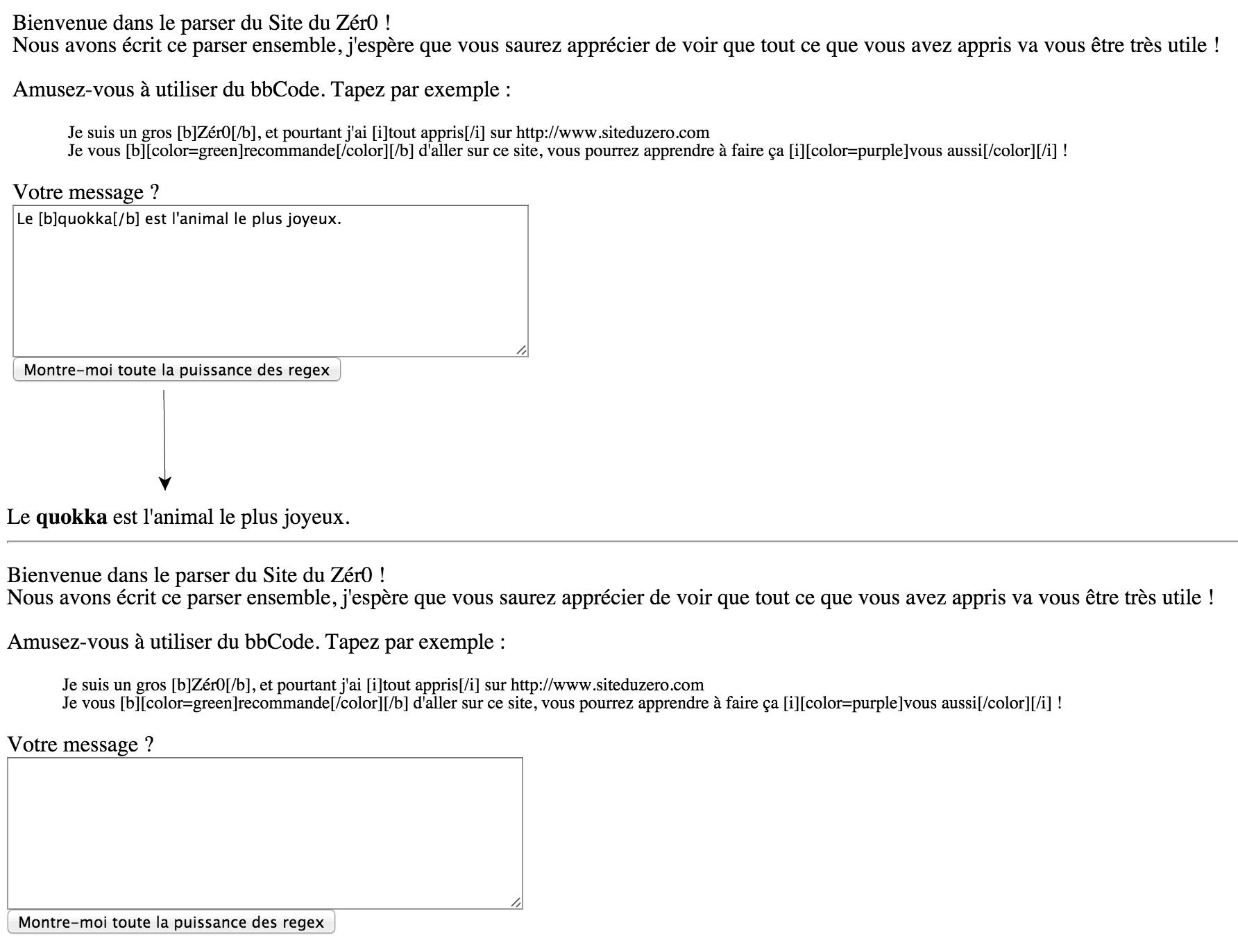Test du parser bbCode
