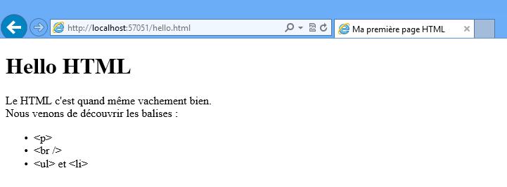 Des balises HTML supplémentaires