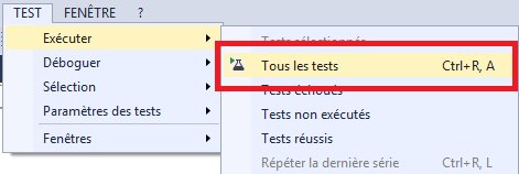 Exécuter les tests