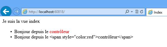 Le HTML avec encodage et sans