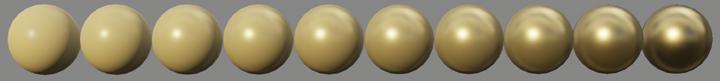 Valeur de Metalic de 0 à 1