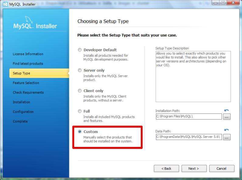 Installation Windows - choix du type d'installation