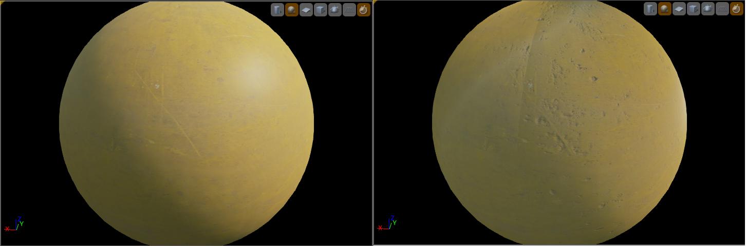Sur la gauche sans et sur la droite avec. Ce n'est peut être pas le meilleur exemple mais on voit une nette amélioration sur le material de droite tout de même !