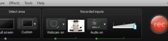 La Webcam est maintenant enregistrée en même temps que l'écran et le microphone