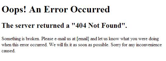 Affichage d'une page 404 en mode