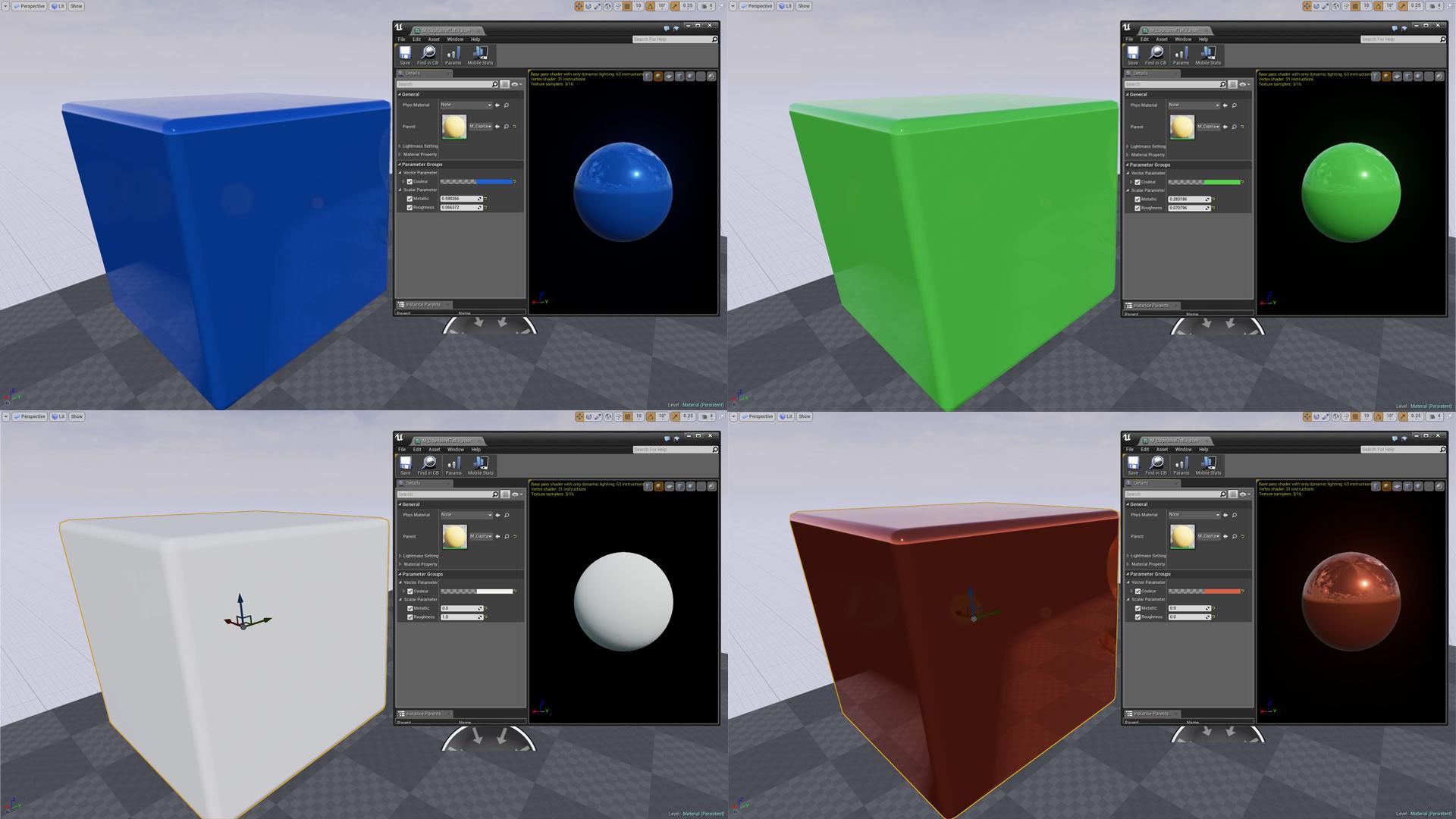 J'ai réalisé 4 screenshots pour vous montrer qu'on peut arriver à des choses totalement différentes en changeant un tout petit peu les paramètres.