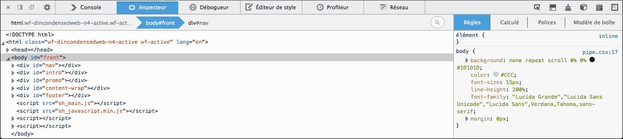 L'inspecteur web de Firefox