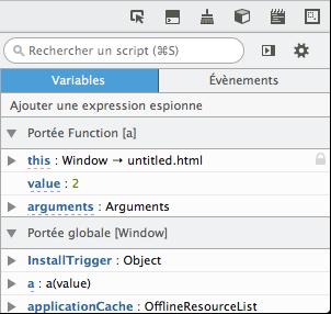 La consultation des variables avec Firefox