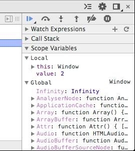 La consultation des variables avec Chrome