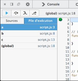 La pile d'exécution sous Firefox