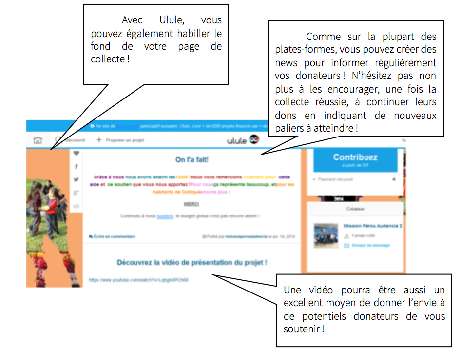 Exemple de projet sur Ulule