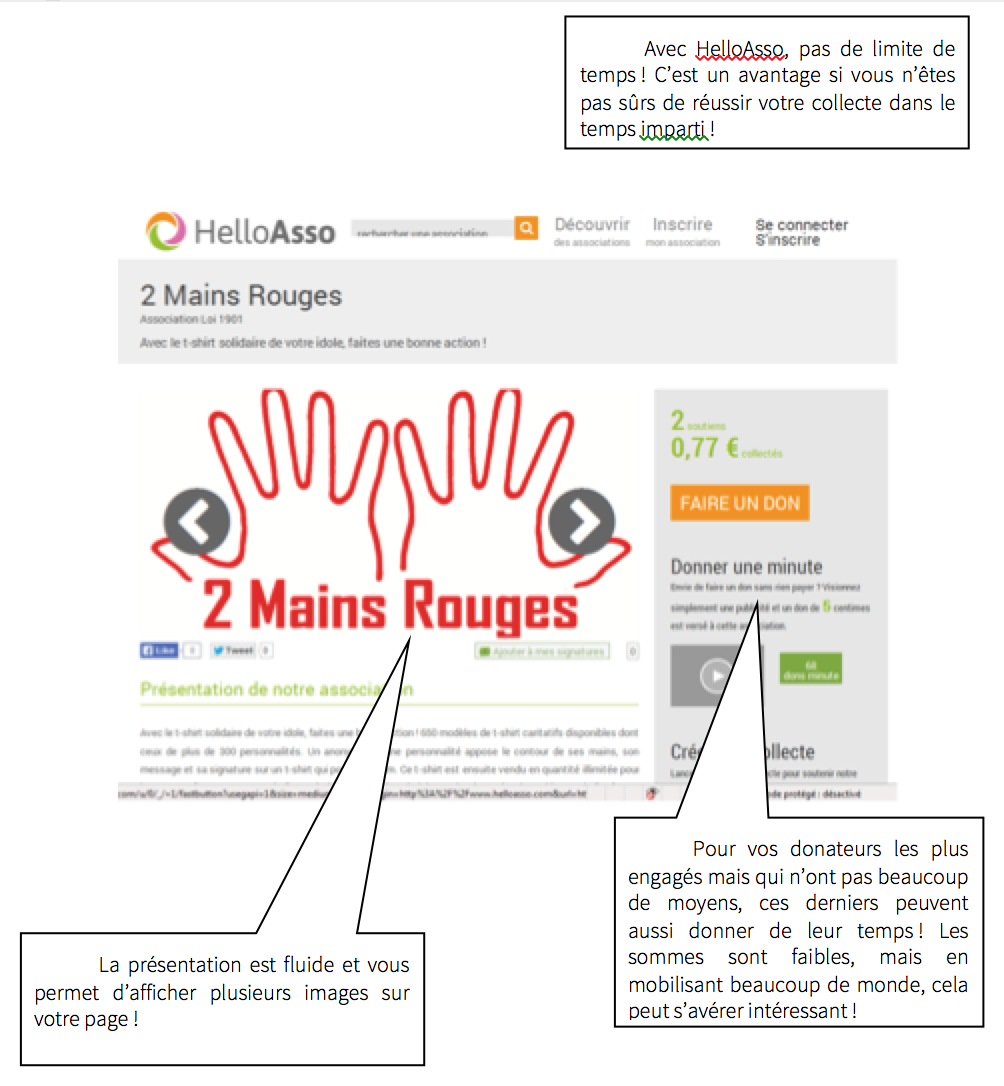 Exemple de projet sur HelloAsso