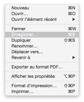 Enregistrer un document dans TextEdit