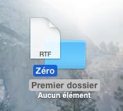 Déplacer un fichier dans un dossier