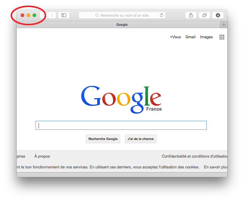 L'application Safari