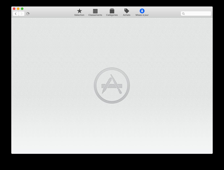 Onglet Mises à jour de l'App Store