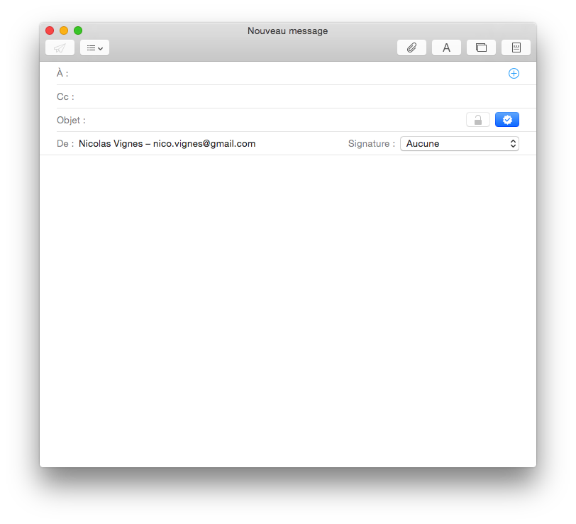 Rédiger un nouveau mail