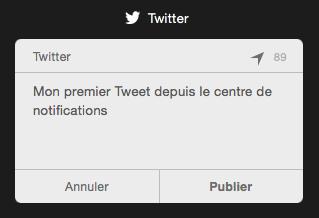 Publier un tweet