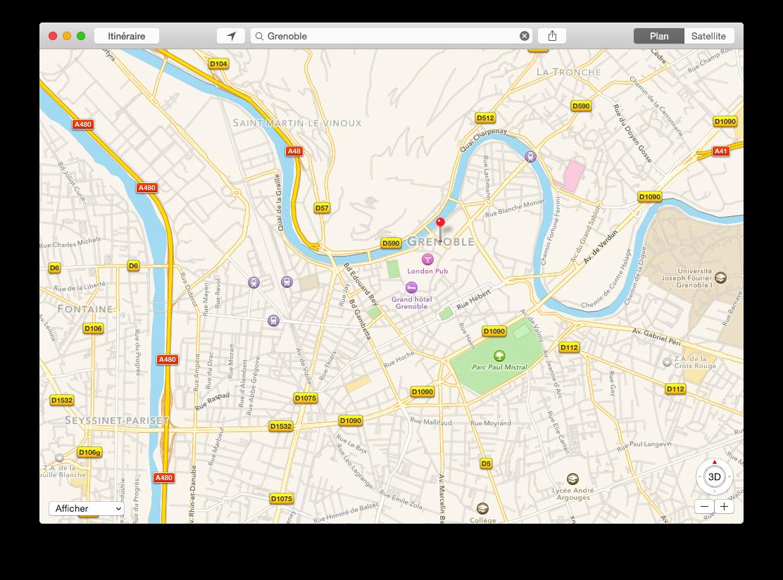 L'interface de Plans