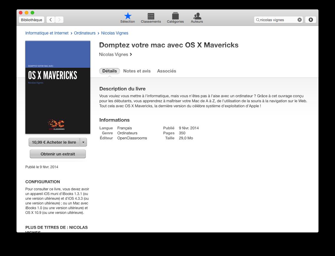 Acheter un eBook sur l'iBooks Store