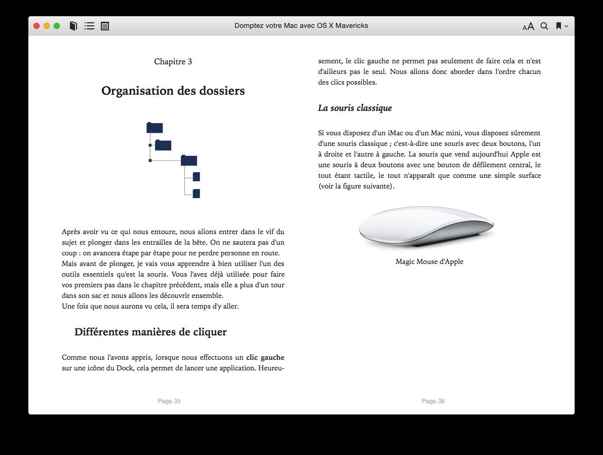 Lecture d'un ouvrage sur iBooks