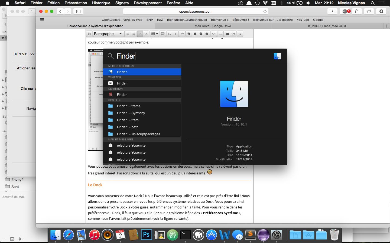 Le mode sombre sous OS X