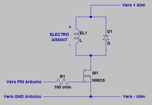 electro aimant arduino