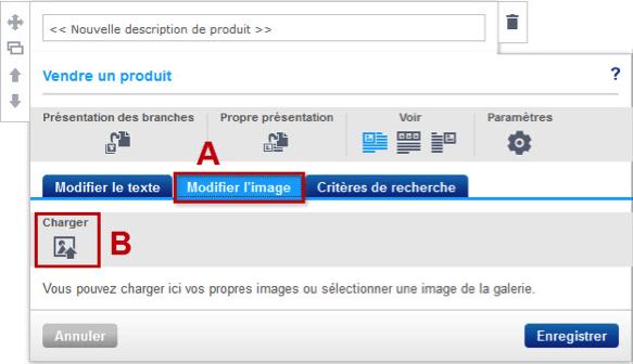 Modifier l'image dans l'éditeur de produit