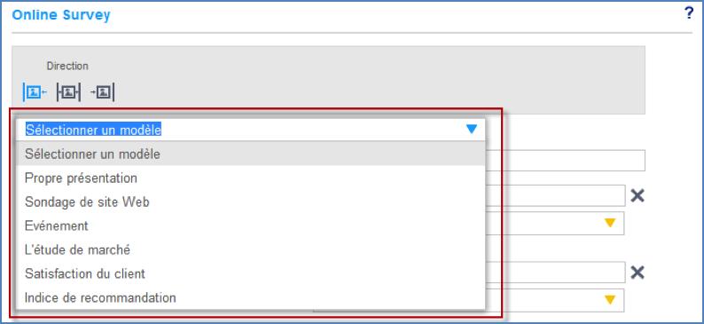 Modèles de Web Enquêtes proposés
