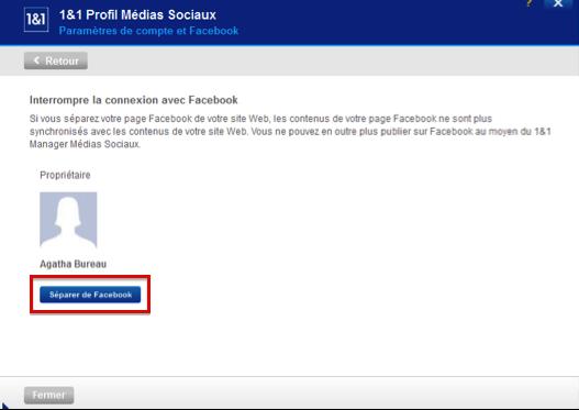 Déconnecter votre site d'une page Facebook