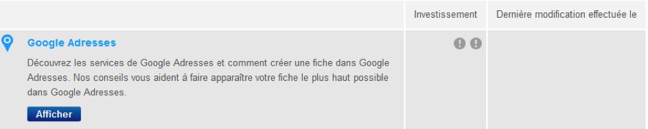 Accéder au service de création d'une fiche Google Adresses