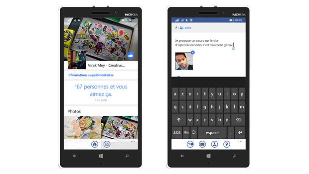 l'application native de Facebook permet de profiter de toutes ses fonctionnalités sans soucis de performance.