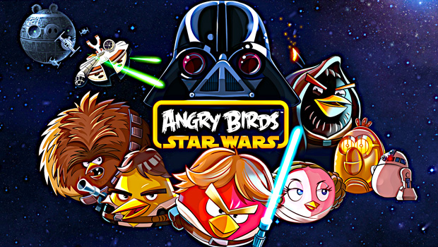 Le célèbre jeu mobile Angry birds Star Wars