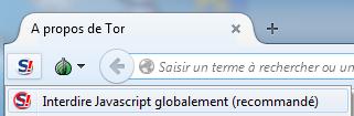 Désactivation globale du Javascript avec NoScript