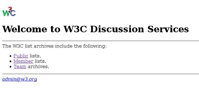 le W3C en 1996