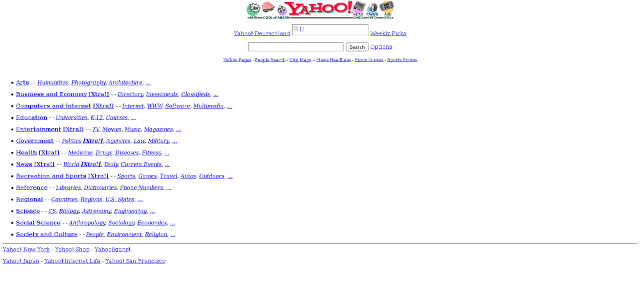 Yahoo en 1996