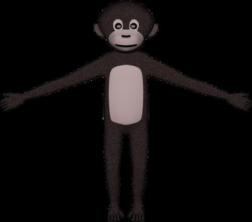 singe-araignée fait avec Blender