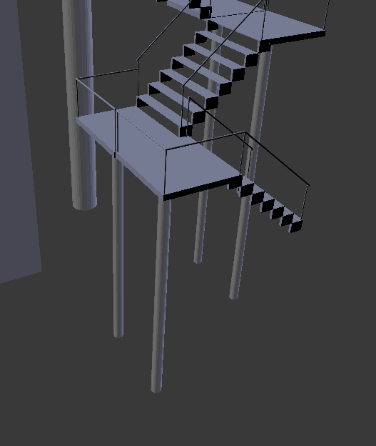 escalier en colimacon blender