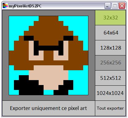 Homebrew Nintendo Ds Mypixelart Pour Faire Du Pixel Art N