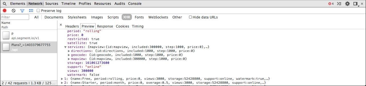 Un aperçu de données JSON sous forme d'arborescence avec Chrome