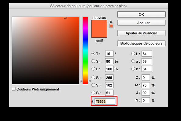 Le sélécteur de couleur