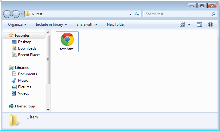 The file in Explorer