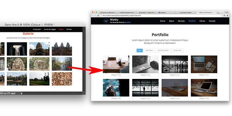 il suffit d'explorer le template pour trouver les images qui correspondent à votre maquette