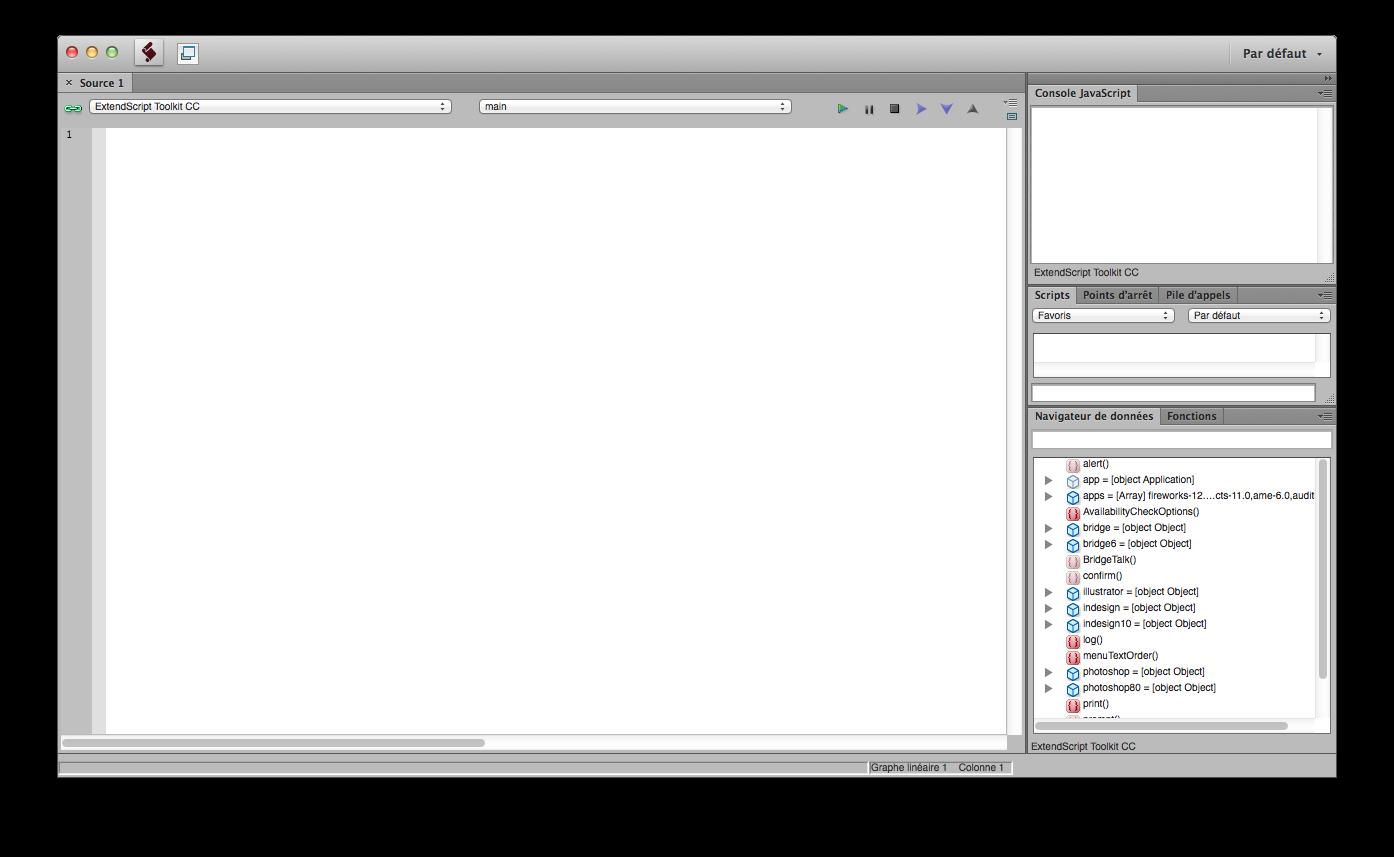 Utilitaire Extendscript Toolkit