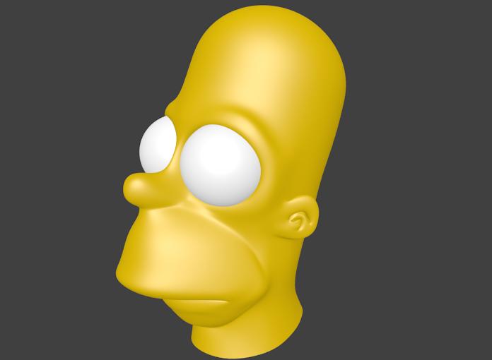 Homer Simpson Comment Mettre La Barbe Par Blender 67