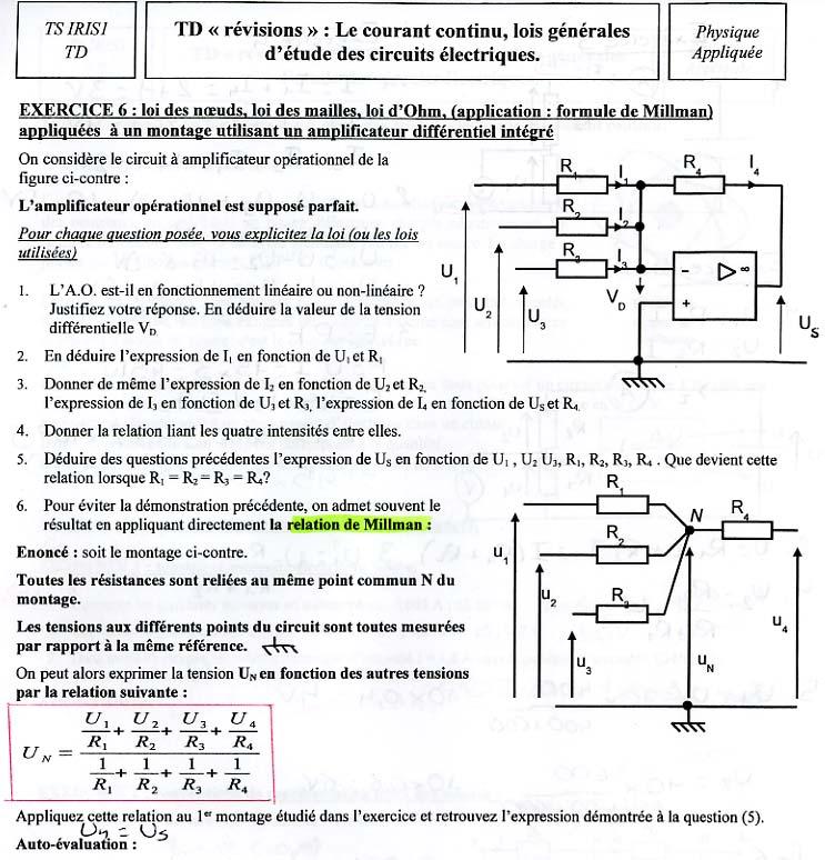 Exercices resolus sur les transistors