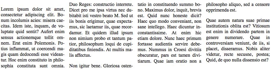 Texte sur plusieurs colonnes, justifié, avec des césures !